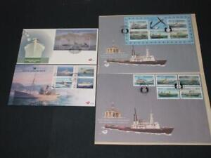 South Africa GROUP OF 4 NAVAL FIRST DAY COVERS