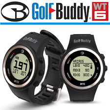 """""""NEW 2017"""" GOLFBUDDY WT6 PRELOADED FRONT CENTRE BACK + HAZARDS GOLF GPS WATCH"""