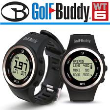 """""""NEW 2017"""" GolfBuddy WT6 precaricato Centro anteriore posteriore + pericoli GOLF GPS watch"""