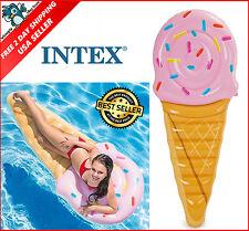 Intex Ice Cream Cone Inflatable Pool Mat Float Swimming Floatie Raft Summer Fun