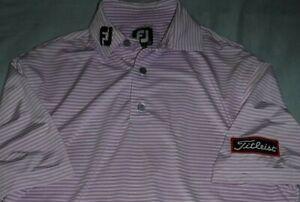 Men's FOOTJOY golf polo shirt TOUR ISSUE w/ TITLEIST logo male's NEW FJ Foot Joy