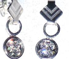 Ohrstecker , Ohrringe mit herrlich glänzenden Crystal Swarovski Steinen
