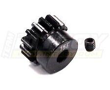 INTEGY RC C23205 Billet Steel Pinion Gear 15T 1M/5mm Shaft for 1/8 & Savage Flux