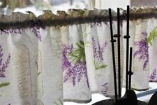 Set Gardine mit Tischläufer Landhaus Lavendel Muster 25 hoch 135 breit