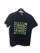 Vintage Gucci 80's Black GG t - shirt