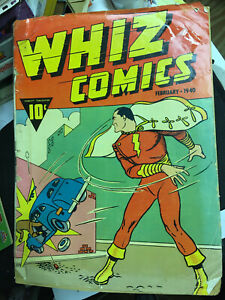 Whiz Comics Captain Marvel February 1940 Vol. 1 No. 2 Large Edition Comic