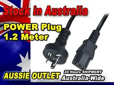 Power Plug Cable 1.2M AU Plug to IEC Computer Monitor Printer - Stock in AU