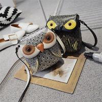 Girl Cute Owl Shoulder Bag Purse Handbags Messenger Bags Crossbody Phone Bag MA