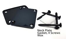 Black Neck Plate, Neck Screws, Gasket and Wax