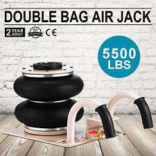 Pneumatic Jack 2 Ton Double Bag Air Jack Lifting Height 12Inch  5500LBS Capacity
