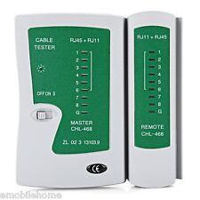 Network Comprobador de cables RJ45 RJ11 RJ12 CAT5 UTP LAN Redes Herramienta