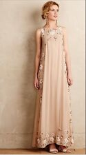 $598 Not So Serious for Anthropologie Nerine Maxi Embellished Gown Dress Sz Smal