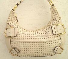 Joli authentique sac à main MICHAEL KORS cuir blanc bag /