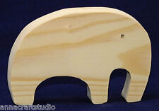 Elephant- wooden shape Other animals available-Real pine wood-Hand made-  (N1)