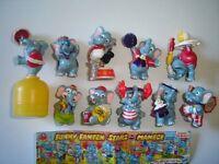 KINDER SURPRISE SET - FUNNY FANTEN CIRCUS ELEPHANTS 1998 - FIGURES COLLECTIBLES