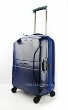 "BRIC'S BLUE PININFARINA 21"" POLYCARBONATE HARDSIDE SPINNER CARRY ON LUGGAGE NEW"