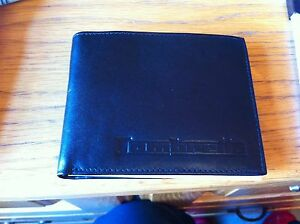 genuine lambretta leather wallet black NEW BARGIN