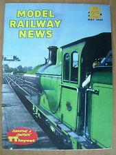 VINTAGE MAGAZINE MODEL RAILWAY NEWS MAY 1960
