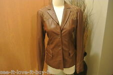 GORGEOUS BCBG MAXAZRIA SOFT LEATHER JACKET COAT-MUST SEE- SIZE 6