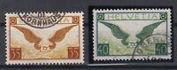 X729/ SWITZERLAND – AIRMAIL – MI # 233x / 234x COMPLETE USED – CV 180 $