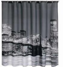 New York City At Night Brooklyn Bridge Shower Curtain 180cm X Polyester