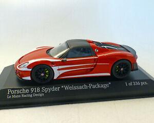 """Porsche 918 Spyder 2015 , """"Weissach-Package """", MINICHAMPS 1:43"""