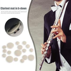 17pcs Bb Clarinet Sound Hole Pads Cushion Replacement Instruments Parts-UK