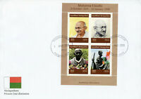 Madagascar 2019 FDC Mahatma Gandhi 4v M/S Cover Famous People Stamps