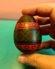 Collectible Wood Wooden Hand Painted Easter Hunt Egg Russian? German?
