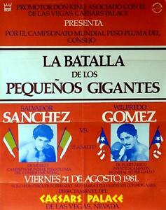 SALVADOR SANCHEZ vs WILFREDO GOMEZ POSTER 8X10 PHOTO BOXING POSTER PICTURE