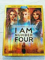 I Am Number Four (Blu-ray/DVD, 2011, 3-Disc Set, Includes Digital Copy) Like New