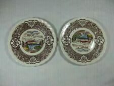 "Vernon Kilns Vernon's 1860 Pair of 7 1/2"" Dessert or Salad Plates"
