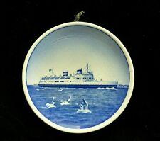 Vintage Royal Copenhagen Mini Passenger Ship Plate Storebaelts Faerge Denmark