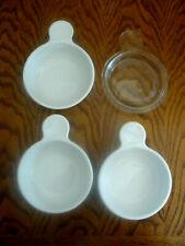 New listing Set of 3 VTG Corning Ware Pyroceram White P-150-B Grab It Bowls  P-150-B, & lid