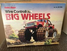 Vintage  1980's Radio Shack Wire Controlled BIG WHEELS MONSTER TRUCK  RC  LOOK!!