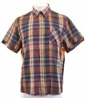 MARLBORO CLASSICS Mens Shirt Short Sleeve 2XL Multicoloured Check Slim Fit  JQ07
