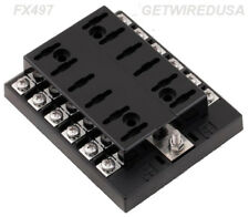 12-WAY ATC FUSE PANEL / BOX / HOLDER 1 IN 12 OUT AUTOMOTIVE CAR BOAT RV Marine