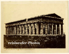 Paestum, Temple Neptune, Original Albumen-Photo, ca. 1880