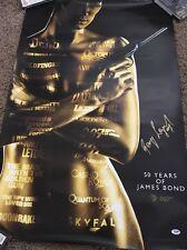 James Bond George Lazenby Poster Signed Autograph PSA PSA/DNA COA