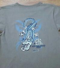 Hawaiian Styled t-shirt (M) Dragon / Longboard Legends Maui, Hawaii