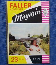 Faller  AMS --  Modellbau Magazin 23 von 1961