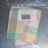 Longaberger Pastel Plaid LARGE GATEHOUSE Basket Liner ~ Made in USA ~ Brand New