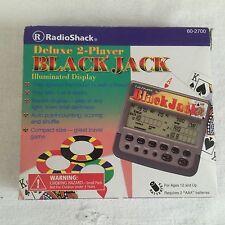 Deluxe 2 Player Blackjack Hand-held LCD Game Radio Shack 60-2700 W/box