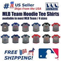 Pets First MLB Hoodie Tee Shirt for Dogs - Licensed, 22 Teams 4 sizes available.