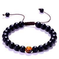 Bracelet Noir Protection,Homme,Femme,Pierre Onyx,Oeil Tigre,Ésotérique Puissant