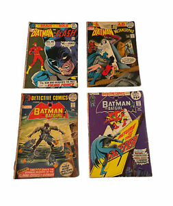 Lot of (4) Batman Early Bronze Age Comics DC Brave And The Bold Detective Comics