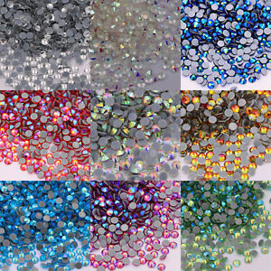 Hotfix Rhinestones Crystal White AB Iron On Strass Glass Stones DIY Clothes