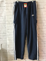 Nike Mens Navy Blue Solid High Rise Elastic Waist Activewear Track Pants Size XL