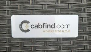 CABFIND TAXI CAB PROMOTIONAL USB POWER BANK CHARGER