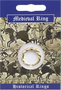 Medieval Double Twist Gold Plated Ring